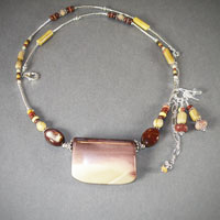 "Sterling Silver Moukaite, Length 20""-24"" 