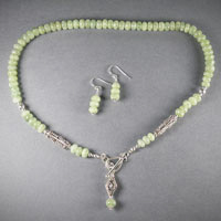 "Sterling Silver Green Kyanite, Toggle Cloure Length 17"" $40"
