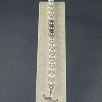 "8"" Sterling Silver Double Drilled Freshwater Pearl Toggle Bracelet $34.00"