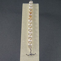 "Sterling Silver 7.75"" Freshwater Pearls Toggle Bracelet $34.00"